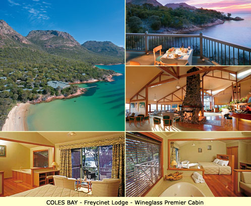 Coles Bay Luxury Accommodation - Freycinet Lodge - Wineglass Premier Cabin