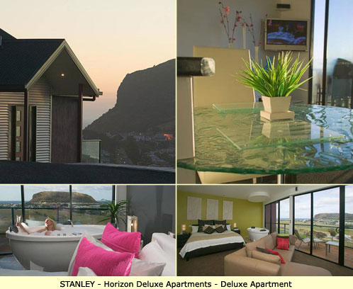 Stanley Luxury Accommodation - Horizon Luxury Apartment - Deluxe Apartment